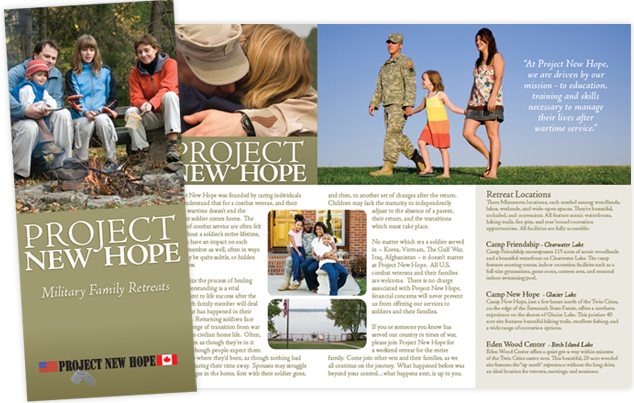 Project New Hope Brochure Design