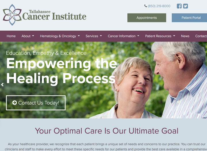 Tallahassee Cancer Institute Website