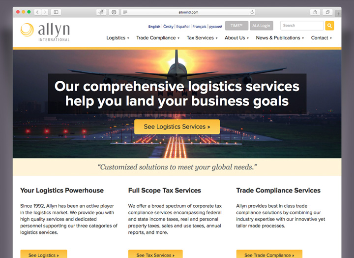Allyn International Website Design