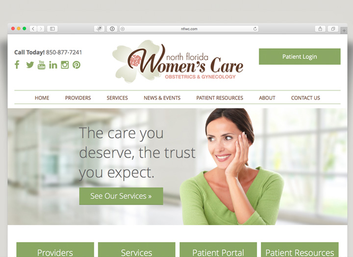 North Florida Women's Care Website